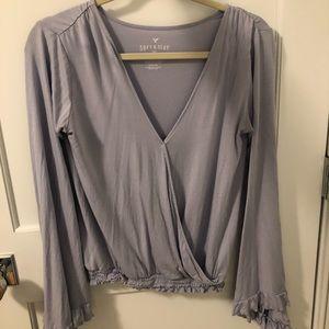 AEO long sleeve blouse